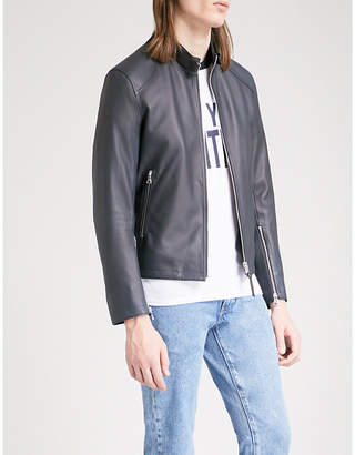Sandro Zip-up leather jacket