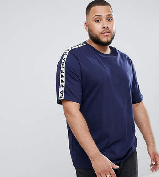 Fila t-shirt with taping in navy