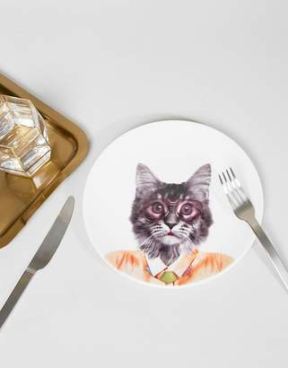 Mustard Wild Cat Dining Plate