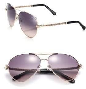 Roberto Cavalli 61MM Aviator Metal Sunglasses