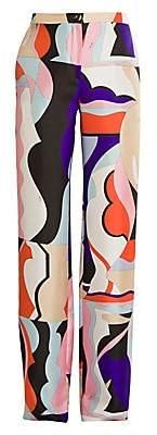 Emilio Pucci Women's Vallauris Silk Twill Wide-Leg Pants