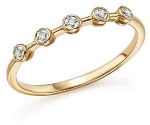 Adina 14K Yellow Gold Five Bezel Diamond Ring
