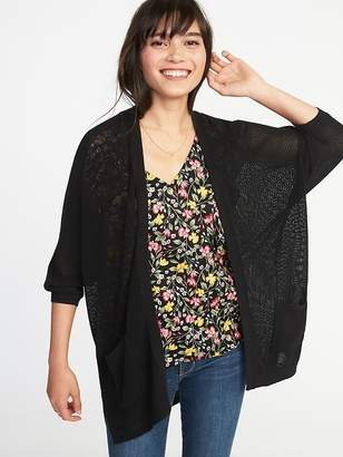 Old Navy Open-Front Dolman-Sleeve Textured-Knit Sweater for Women