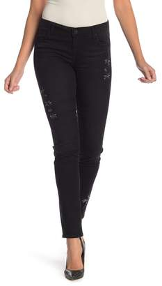 KUT from the Kloth Diana Floral Embroidered Skinny Jeans