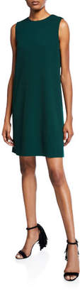 Oscar de la Renta Bow-Back Jewel Neck Shift Dress