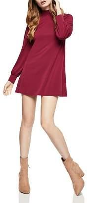 BCBGeneration Mock-Neck A-Line Mini Dress