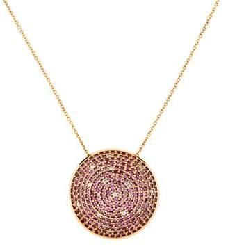 Hueb 18K Diamond-Accented Sapphire Circular Pendant Necklace