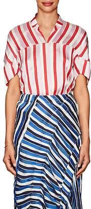 Zero Maria Cornejo Women's Concave Striped Twill Blouse