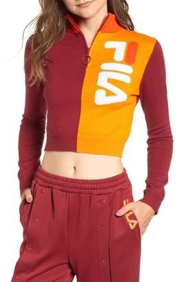 Fila Fabiana Half Zip Crop Sweater