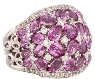Ring Pink Sapphire & Diamond Cocktail
