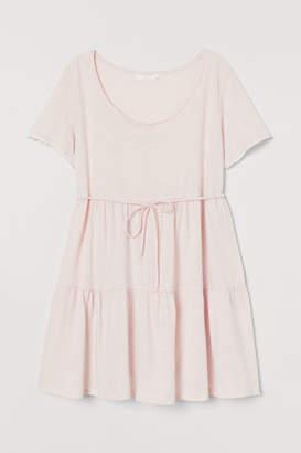 H&M MAMA Tiered Cotton Tunic - Orange