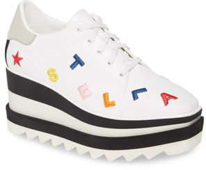 Stella McCartney Sneak-Elyse Logo Platform Sneaker