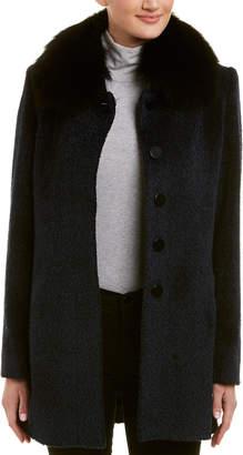 Sofia Cashmere Sofiacashmere Wool & Cashmere-Blend Car Coat