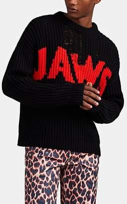 "Calvin Klein Men's ""Jaws"" English Rib-Knit Oversized Sweater - Black"