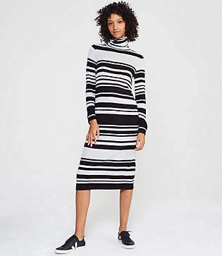 b1fb050325a7 Lou & Grey Striped Turtleneck Maxi Sweater Dress