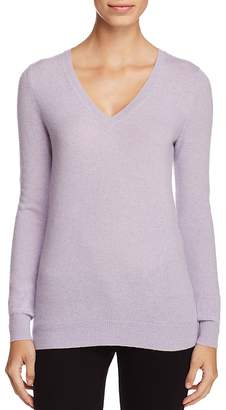 C By Bloomingdale's Cashmere V-Neck Sweater - 100% Exclusive $158 thestylecure.com