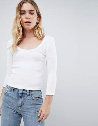 Dr. Denim Ribbed Top