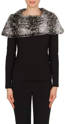 Joseph Ribkoff Fur Top