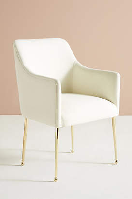 Anthropologie Performance Wool Elowen Dining Armchair