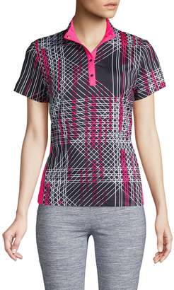 Tail Printed Stretch Top