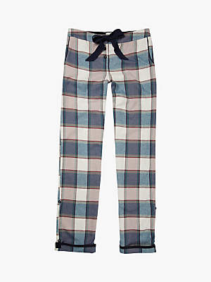 Fat Face Buffalo Check Drawstring Pyjama Pants, Teal
