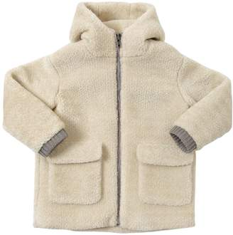 Stella McCartney Hooded Faux Shearling Coat