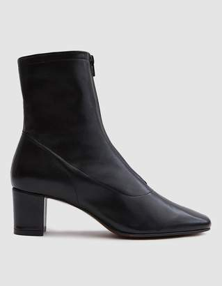BY FAR Neva Leather Ankle Boot in Black
