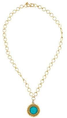 Anthony Nak 18K Turquoise Pendant Necklace