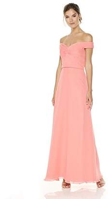 Cambridge Silversmiths The Collection Women's Off-the-Shoulder Lace-Up Back Gown 8
