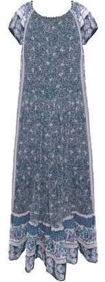 Joie Florral-Print Silk-Chiffon Maxi Dress
