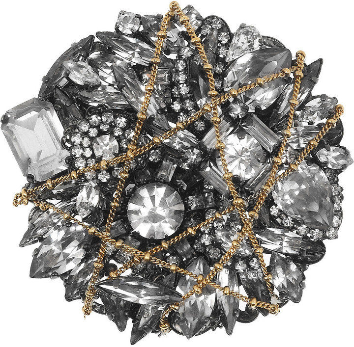 Erickson Beamon Barbie gunmetal-plated Swarovski crystal brooch