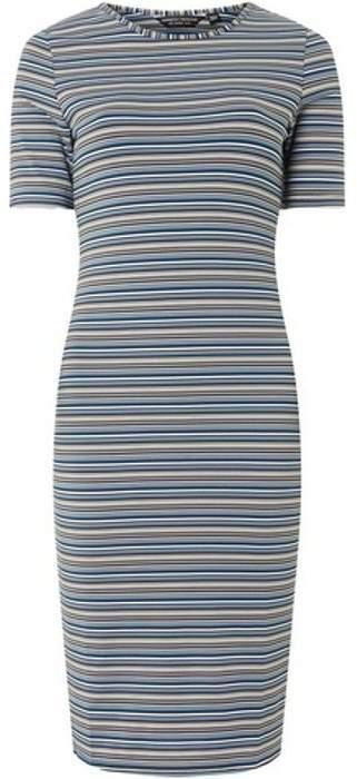 Womens **Multi Colour Half Sleeve Bodycon Dress