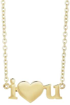 "Jennifer Meyer Women's ""I Heart U"" Pendant Necklace"