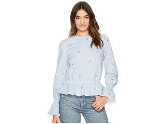 J.o.a. Bubble Sleeve Top Women's Clothing