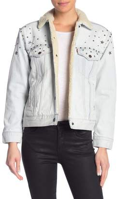 Levi's Ex Boyfriend Faux Shearling Lined Trucker Jacket