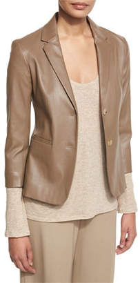 The Row Noblan Leather Blazer