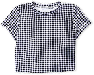 Necessary Objects Girls 7-16) Checkered Short Sleeve Tee