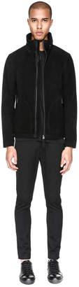 Mackage TAHIR Suede jacket with stowaway windproof hood