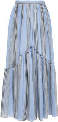 Leila Three Graces London Striped Cotton Maxi Skirt