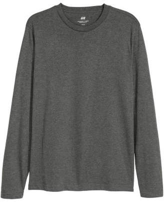H&M Long-sleeved Shirt Regular fit - Gray
