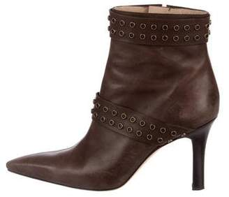 free shipping very cheap outlet manchester great sale Manolo Blahnik Salanda Leather Booties wiki 1LvZ4
