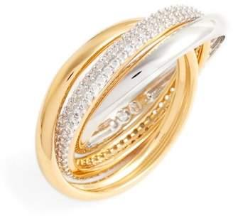 Nadri Trinity Pave Ring - Size 6