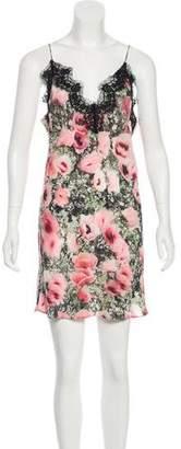 Fleur Du Mal Floral Slip Dress