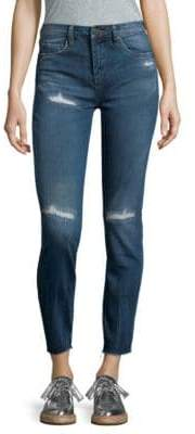 Blank NYC Destructed Mid-Rise Skinny Jeans