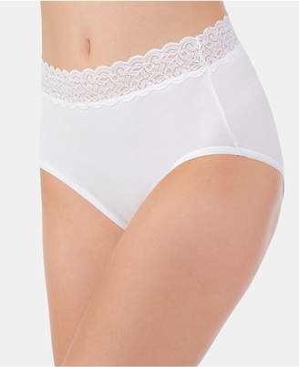 Vanity Fair Flattering Cotton Lace Stretch Brief 13396, also available in extended sizes