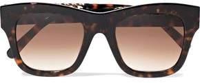 Stella McCartney Square-frame Embellished Tortoiseshell Acetate Sunglasses