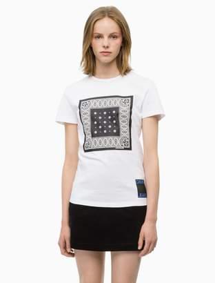 Calvin Klein bandana graphic crewneck t-shirt