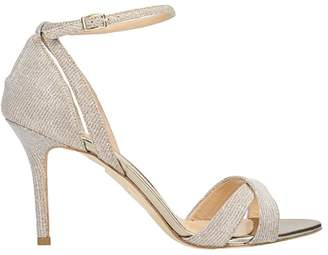 The Seller Champagne Lurex Sandals