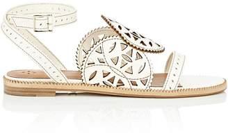Cartujano Espana Women's Laser-Cut Leather Sandals