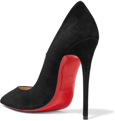 Christian Louboutin - So Kate 120 Suede Pumps - Black 4